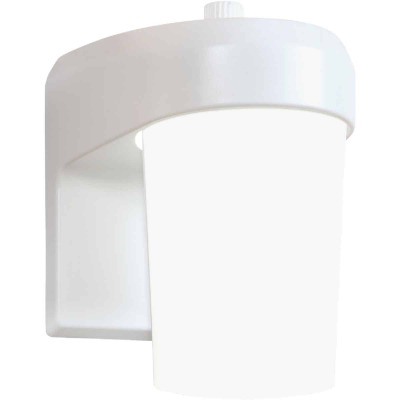 Halo White Dusk To Dawn LED Outdoor Area Light Fixture