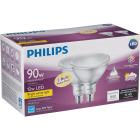 Philips 90W Equivalent Bright White PAR38 Medium Indoor/Outdoor LED Floodlight Light Bulb (2-Pack) Image 4