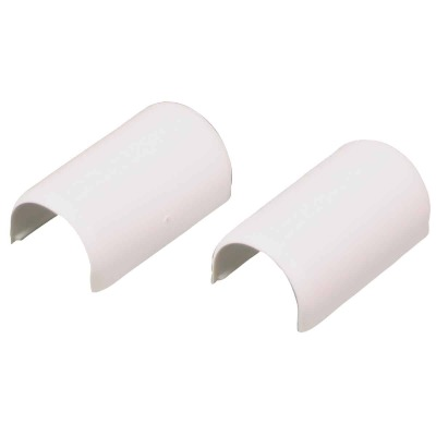 Wiremold CordMate White 9/16 In. W. x 7/16 In. D. PVC Connection Fitting (2-Pack)
