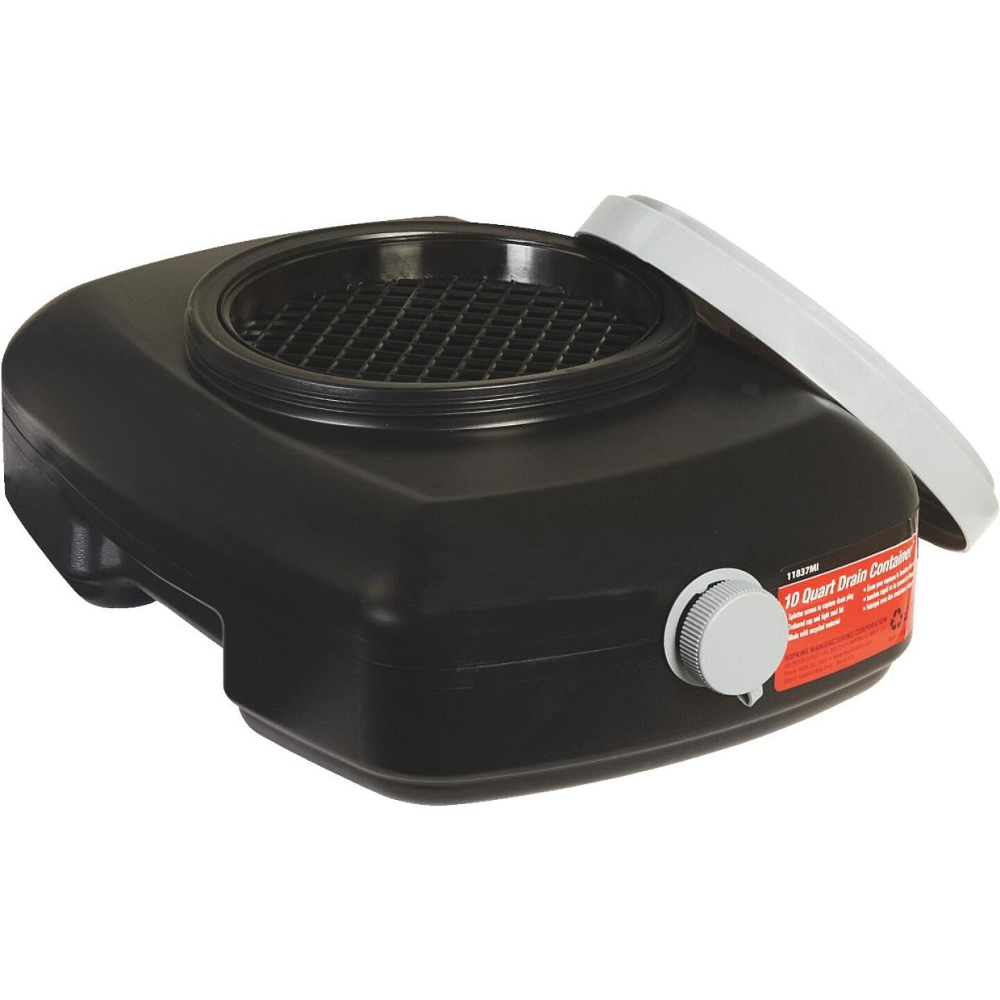 Hopkins Flotool 10 Qt Black Polyethylene Oil Drain Pan Image 2