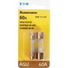 Bussmann 60-Amp AGU Glass Tube Automotive Fuse with Gold-Plated End Caps (2-Pack) Image 2