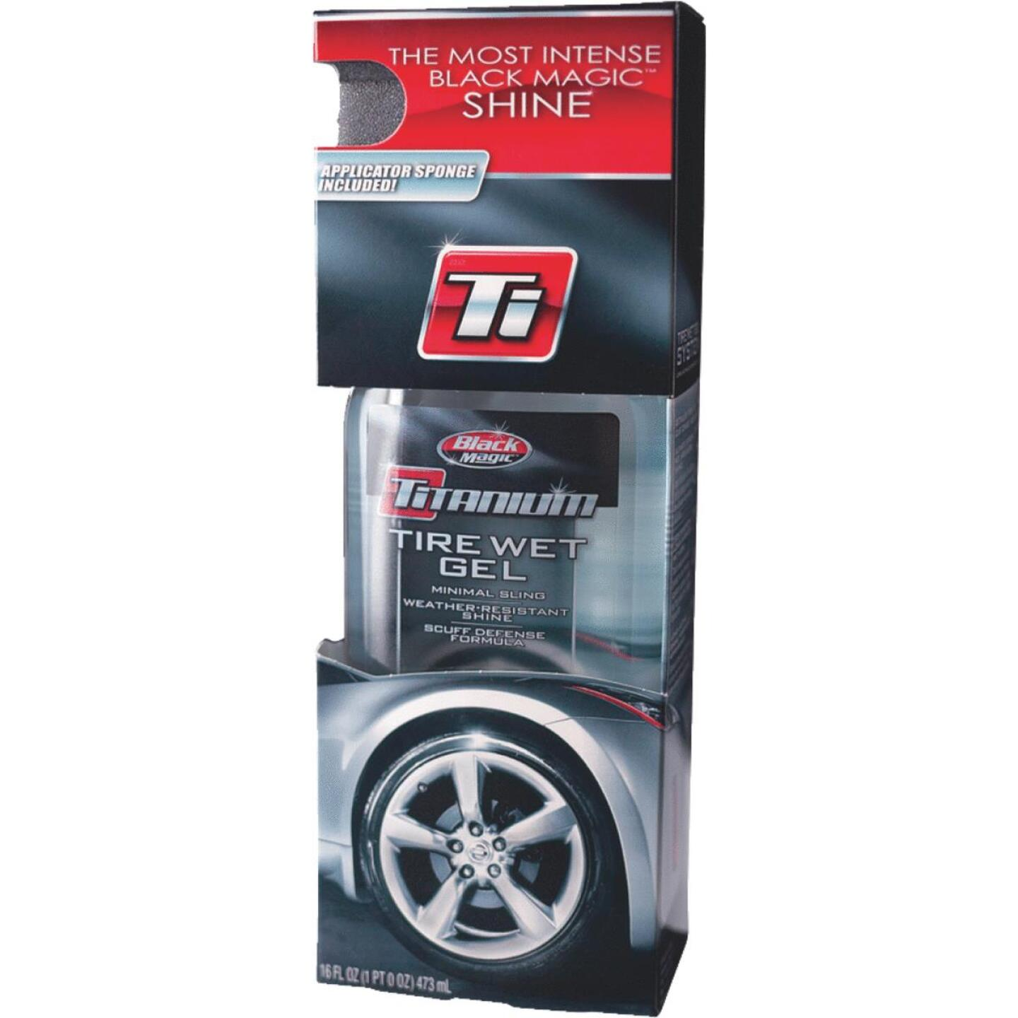 BLACK MAGIC Titanium 16 Oz. Pourable Tire Wet Gel Tire Shine Image 1