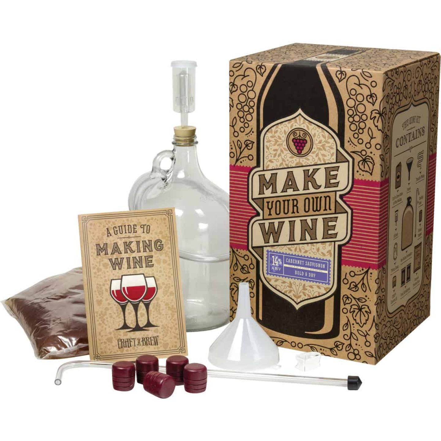 Craft A Brew Cabernet Sauvignon Wine Making Kit (11-Piece) Image 1