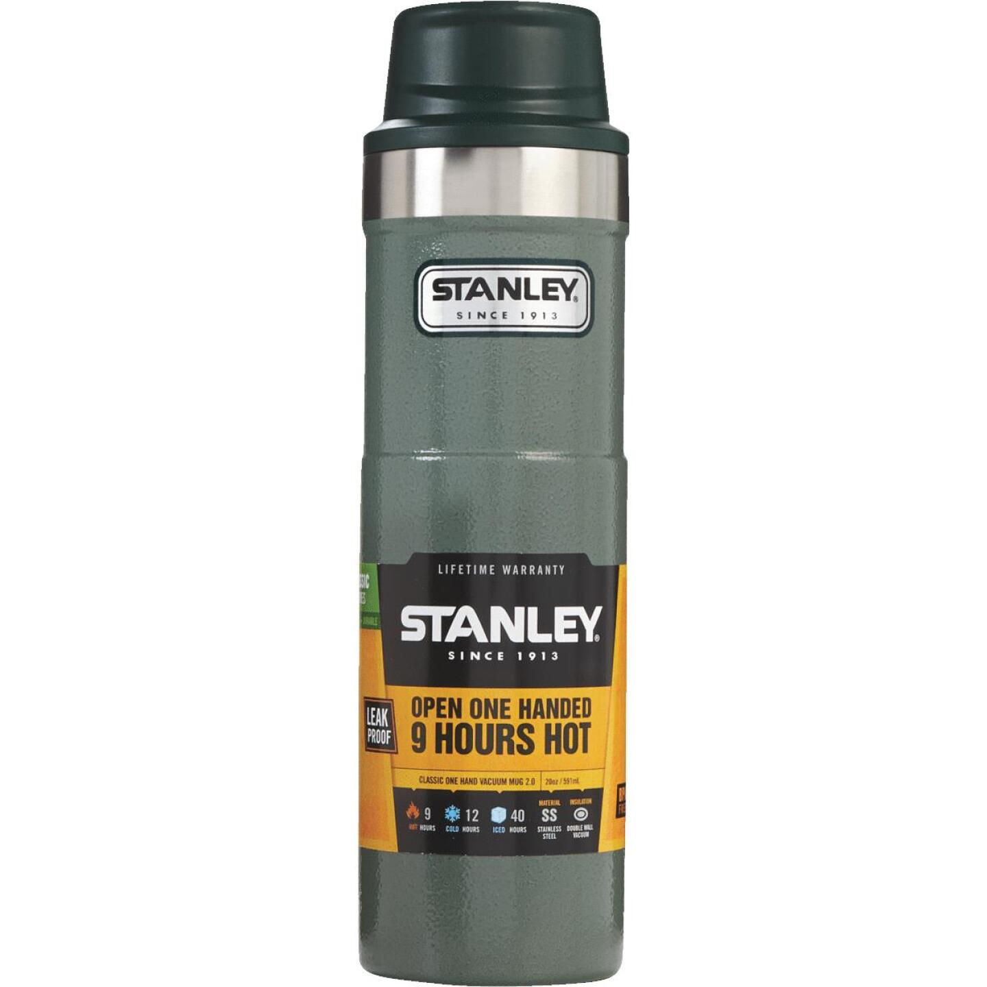 Stanley 20 Oz. Hammertone Green Trigger Action Insulated Tumbler Image 1