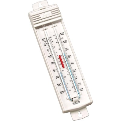 """Taylor 2-3/4"""" W x 8-3/4"""" H Plastic Tube Indoor & Outdoor Thermometer"""