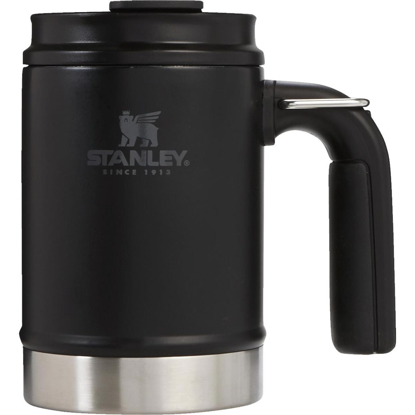 Stanley 16 Oz. Black Big Grip Insulated Mug Image 1