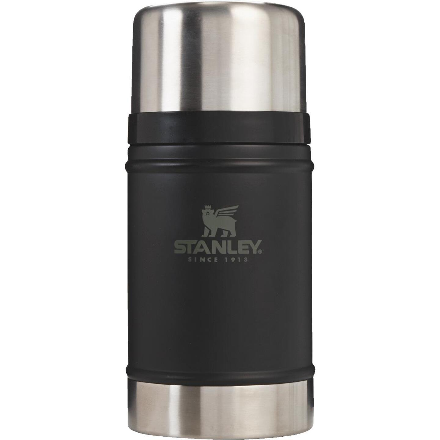 Stanley 24 Oz. Black Stainless Steel Thermal Food Jar Mug Image 1