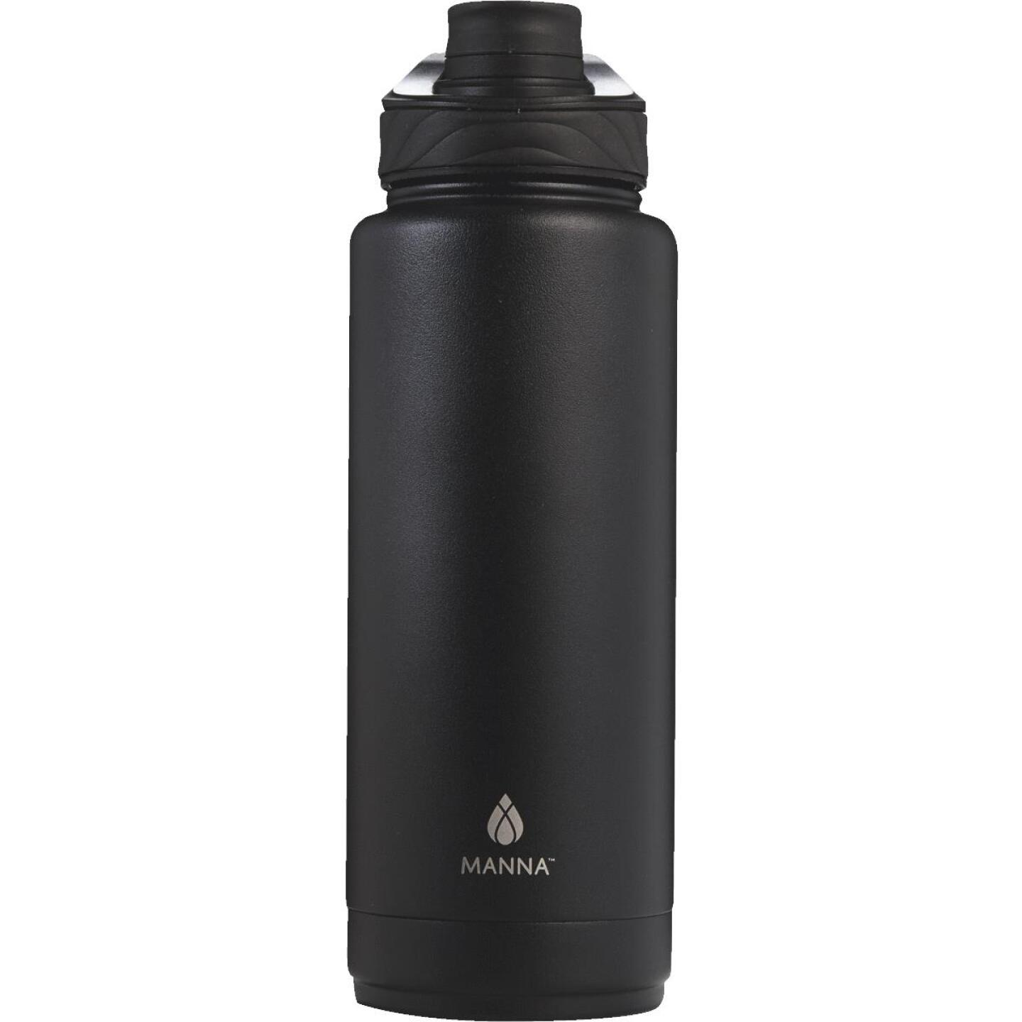 Manna 40 Oz. Onyx Black Convoy Insulated Vacuum Bottle Image 1