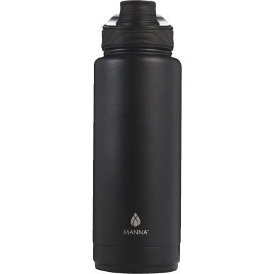 Manna 40 Oz. Onyx Black Convoy Insulated Vacuum Bottle