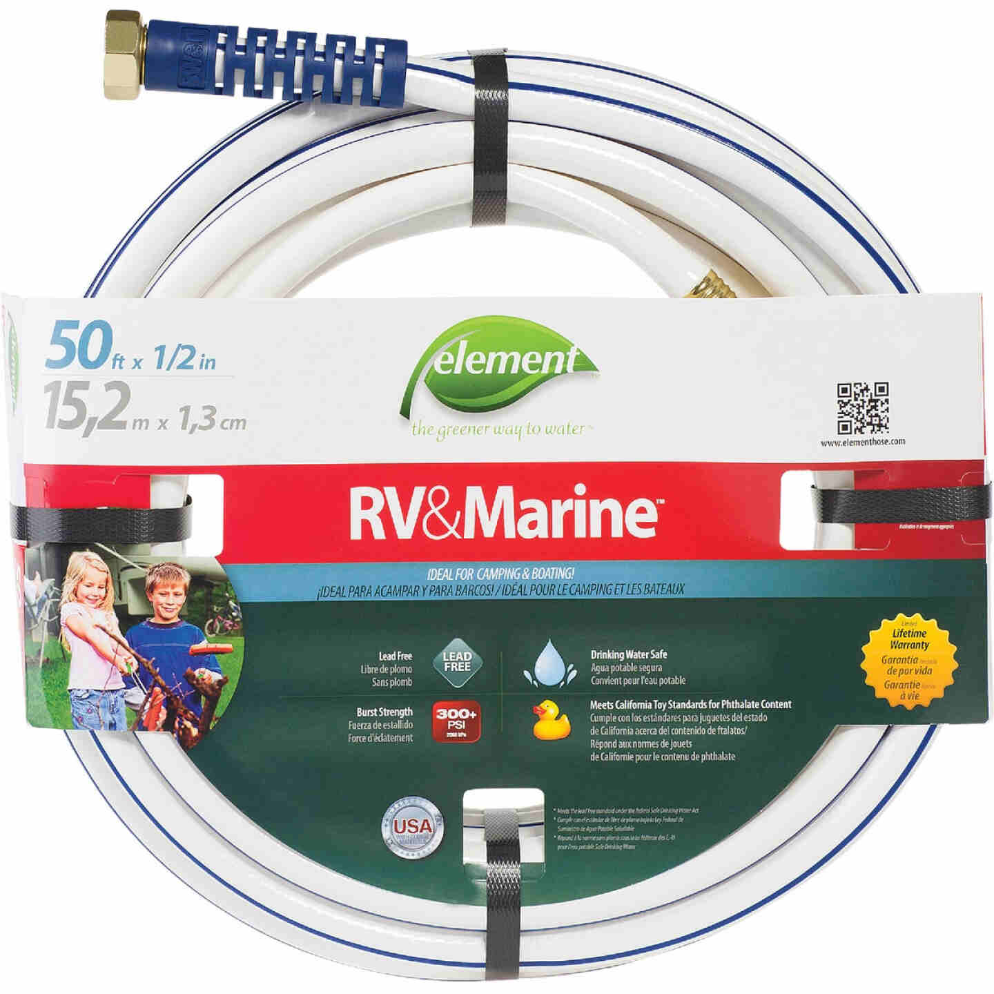 Element RV&Marine 1/2 In. Dia. x 50 Ft. L. Drinking Water Safe Hose Image 1
