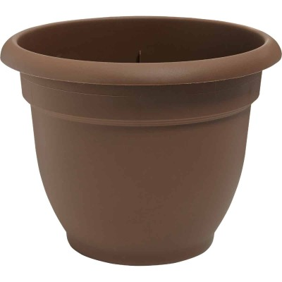 Bloem Ariana 12 In. Plastic Self Watering Chocolate Planter