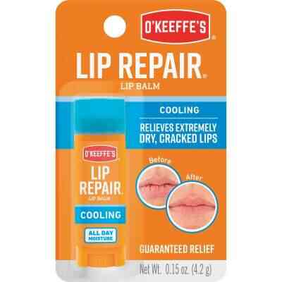 O'Keeffe's Cooling Relief Unflavored Lip Balm, 0.15 Oz.