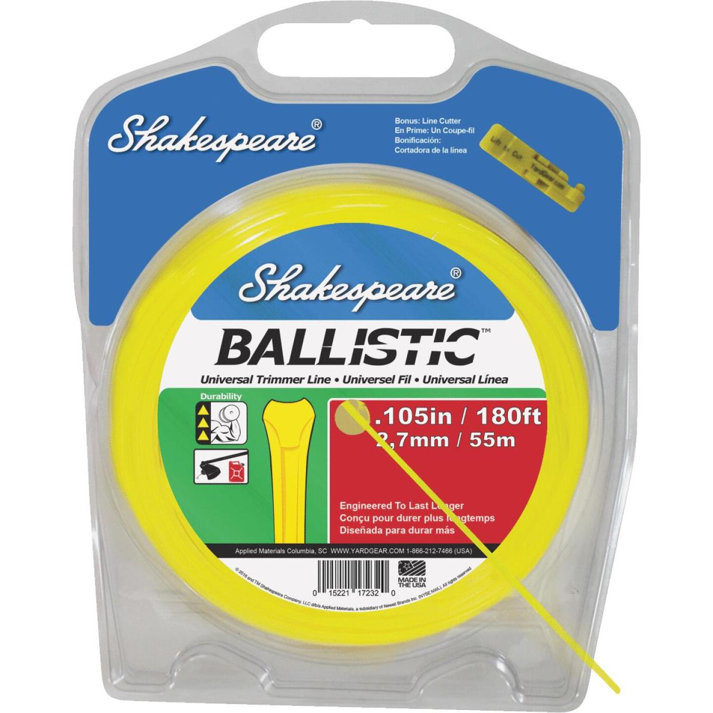 Shakespeare Ballistic 0.105 In.x 245 Ft. Universal Trimmer Line Image 1