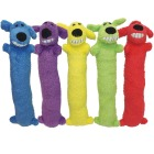 Multipet Loofa Dog 6 In. Plush Squeaky Dog Toy Image 1