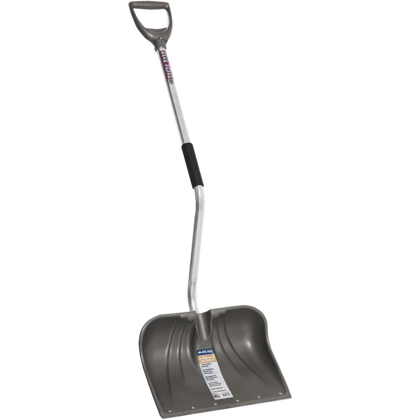 Rugg Back-Saver Lite-Wate 18 In. Poly Snow Shovel with 42.5 In. Aluminum Handle Image 1