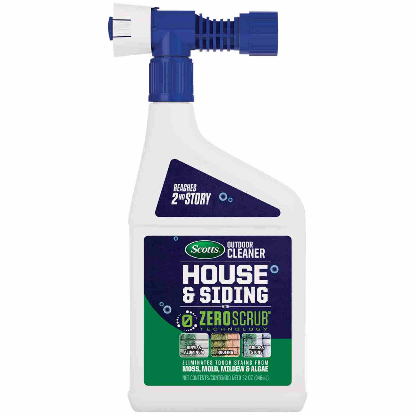 Scotts ZeroScrub 32 Oz. Ready To Spray Hose End House & Siding Outdoor Cleaner Image 1