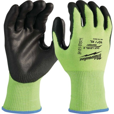 Milwaukee Men's XL Cut Level 2 High Vis Nitrile Dipped Glove