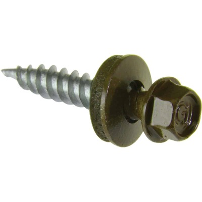 Do it #9 x 1-1/2 In. Hex Washered Green Framing Screw (250 Ct.)