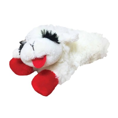 Multipet 6 In. Plush Lamb Chop Dog Toy