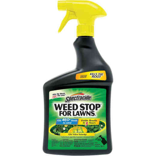 Spectracide Weed Stop For Lawns 32 Oz. Ready To Use Trigger Spray Weed Killer