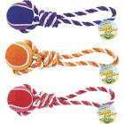 Westminster Pet Ruffin' it Giant Tennis Ball Rope Tug Dog Toy Image 1