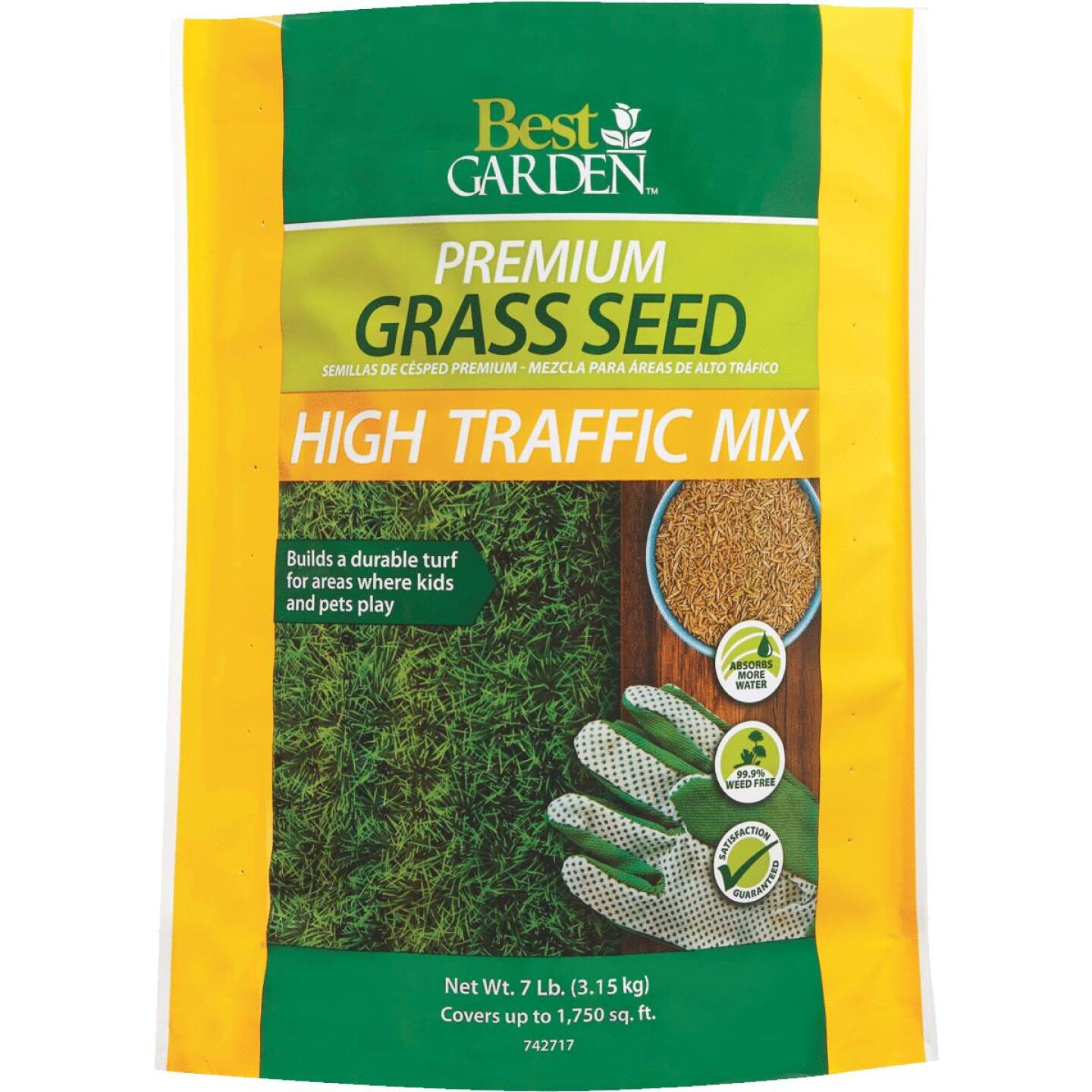 Best Garden 7 Lb. 3000 Sq. Ft. Coverage High Traffic Grass Seed Image 1