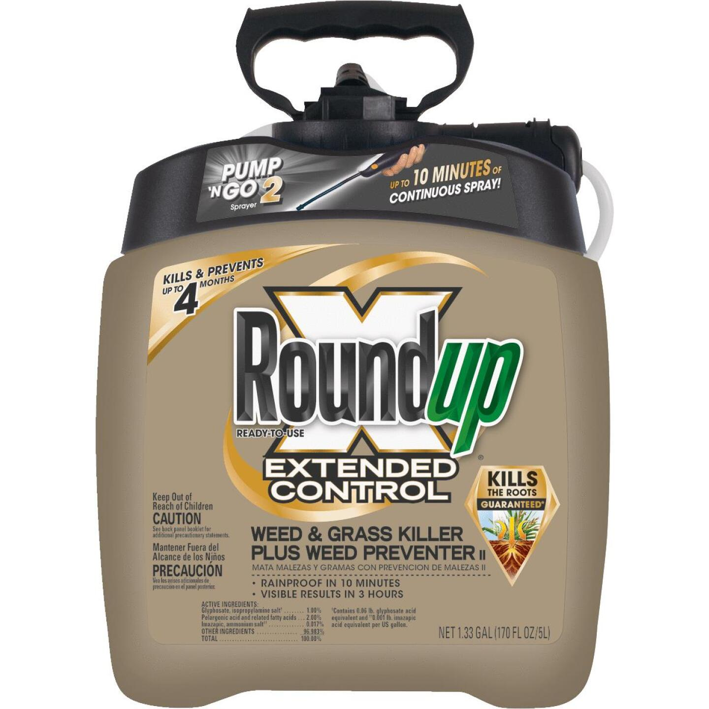 Roundup Extended Control 1.33 Gal. Ready To Use Wand Sprayer Weed & Grass Killer Plus Weed Preventer II Image 1