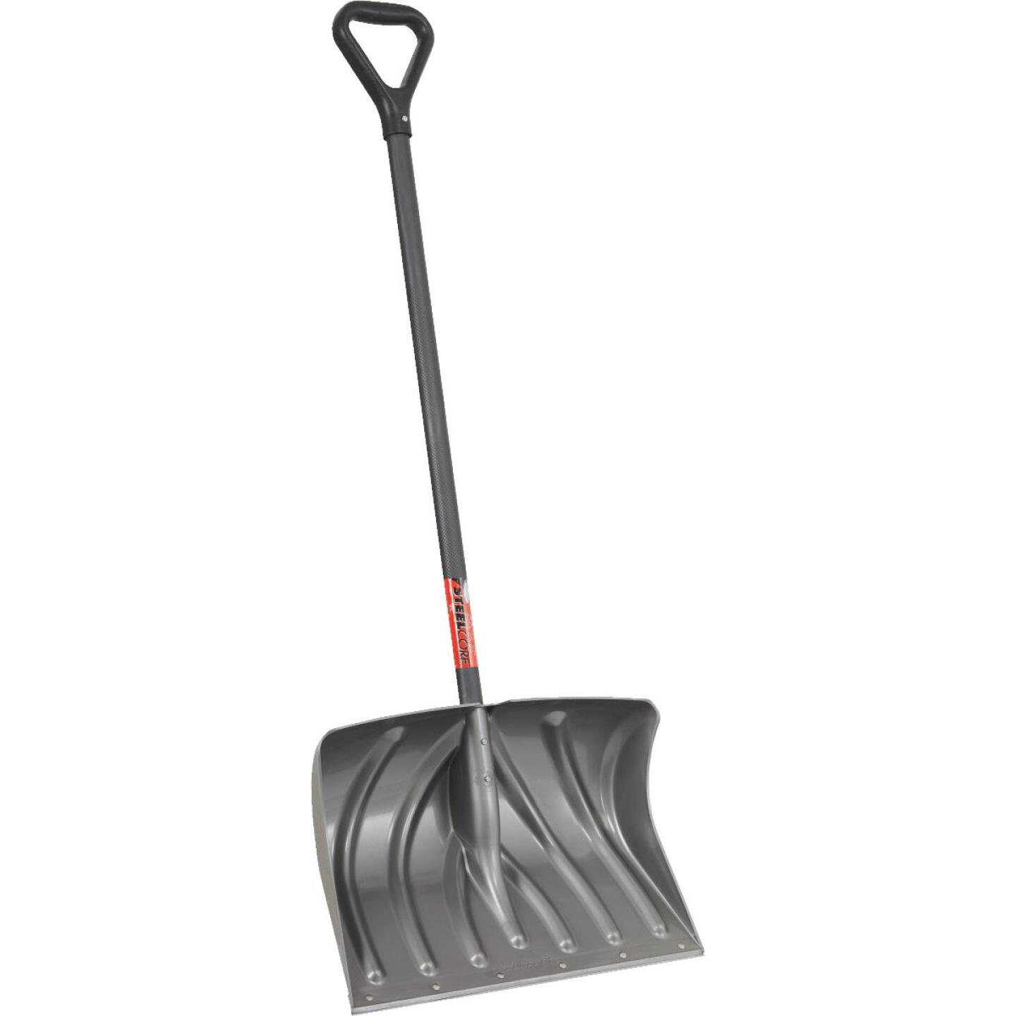 Suncast 20 In. Graphite Snow Shovel & Pusher with 38 In. Steel Handle Image 1