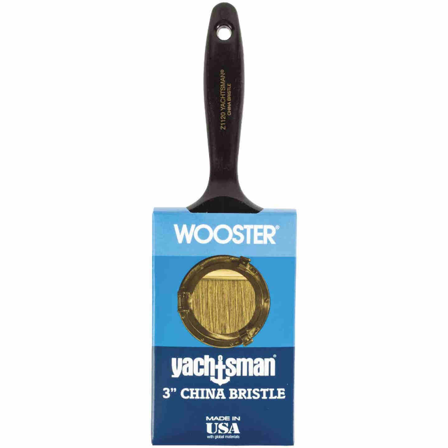 Wooster Yachtsman Varnish 3 In. Flat Paint Brush Image 1