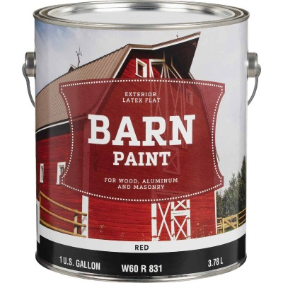 Do it Best Latex Flat Exterior Barn Paint, Red, 1 Gal.