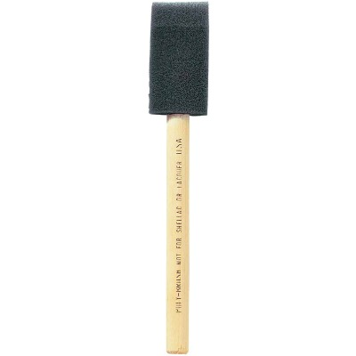 Jen 1 In. Poly Foam Brush with Wood Handle
