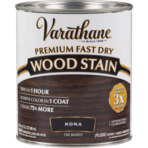 Varathane Fast Dry Kona Wood Urethane Modified Alkyd Interior Wood Stain, 1 Qt.