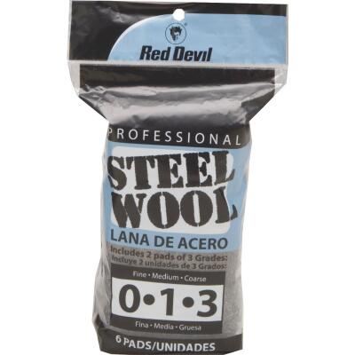 Red Devil Assorted Steel Wool (6 Pack)