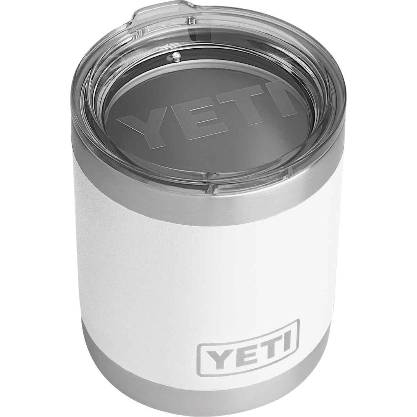 Yeti Rambler Lowball 10 Oz. White Stainless Steel Insulated Tumbler Image 1