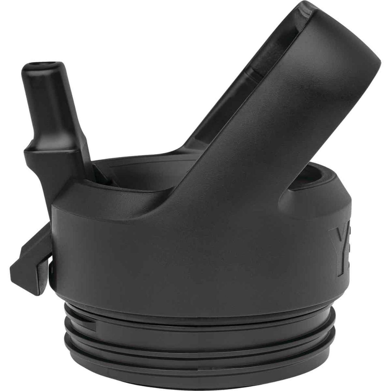 Yeti Rambler Bottle Black Plastic Straw Cap Image 3