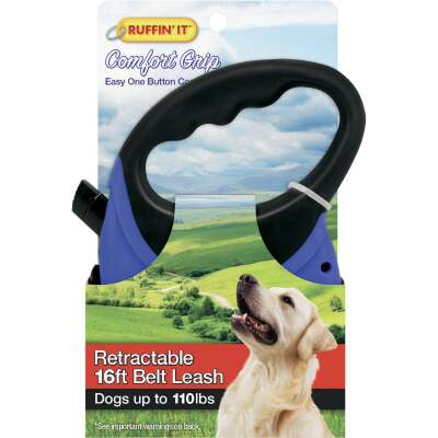 Westminster Pet Ruffin' it 16 Ft. Cord Up to 110 Lb. Dog Retractable Leash