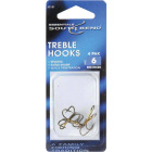 SouthBend Size 6 Bronze Treble Fishing Hook (4-Pack) Image 1