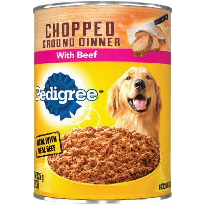 Pedigree Meaty Ground Dinner with Chopped Beef Wet Dog Food, 22 Oz.