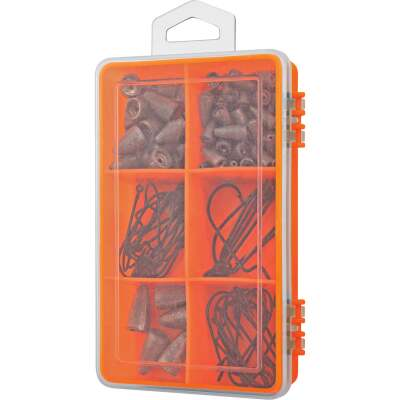 SouthBend 105-Piece Value Pack Assorted Worm Weight & Hook Kit