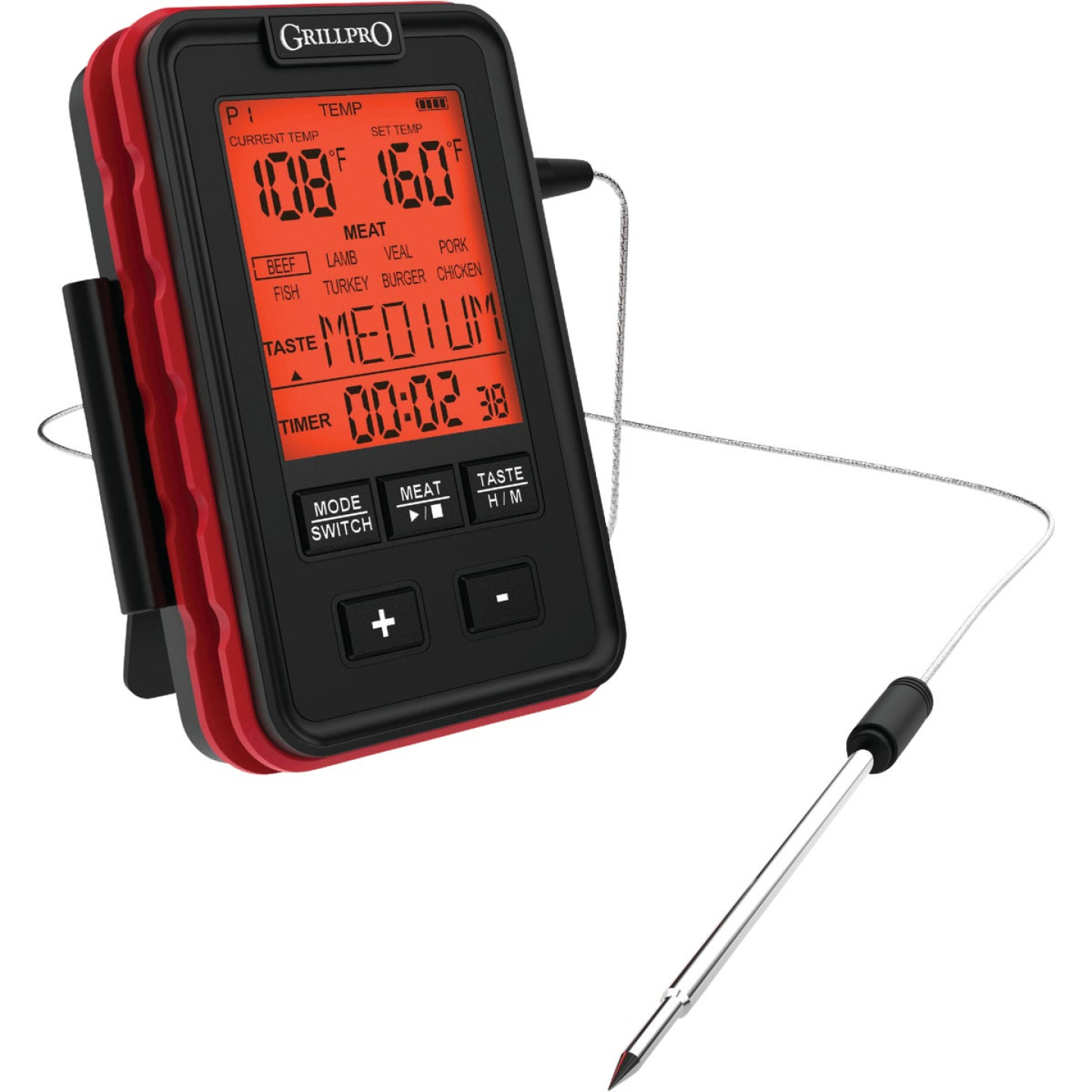 GrillPro Leave-In Probe Side Table Thermometer Image 4